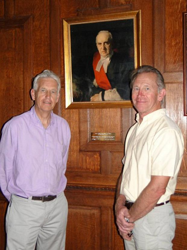 Greg Bratza, great-grandson of Lord and Lady Russell, visited Tadworth Court alongside Nicholas Owen