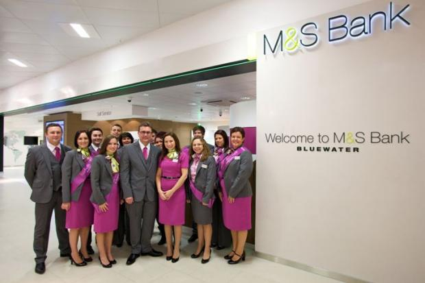 Stephen Pinkney with the M&S Bank Bluewater team.