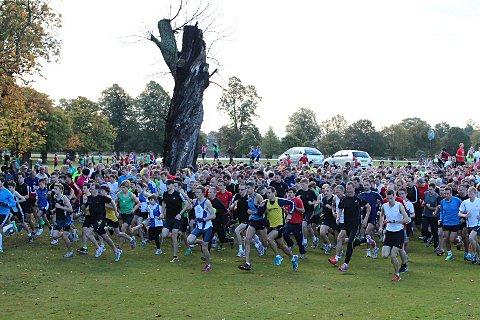 And they're off: Close to 1,000 athletes took on the Bushy Park parkrun at the weekend