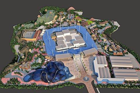 A computer-generated image showing the proposed design for the site.