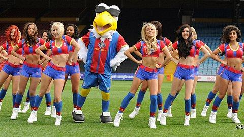 Crystal Palace cheerleader girls the Crystals perform Gangnam Style