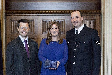 Andy and Nicola Sellings with James Brokenshire MP