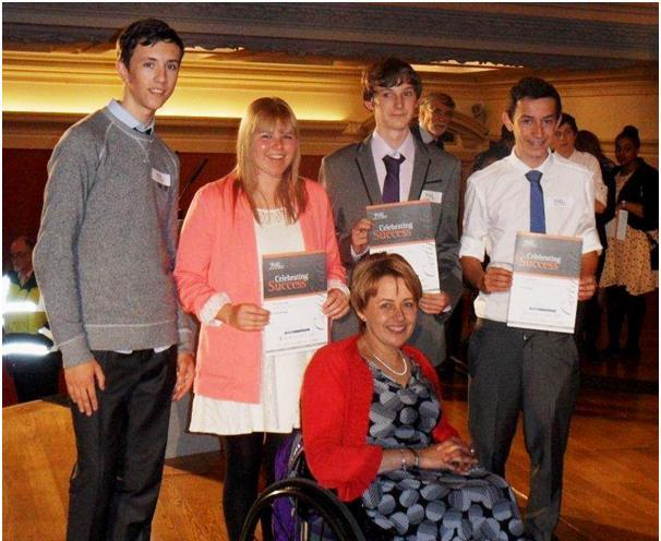 The Blenheim High School students were presented their awards by Tanni Grey-Thompson