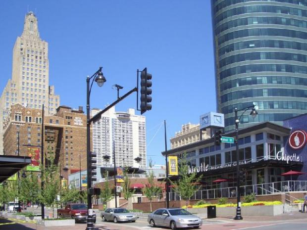 "This Is Local London: Kansas City's ""power and light district"", visited by SLHT managers during the Cerner conference."