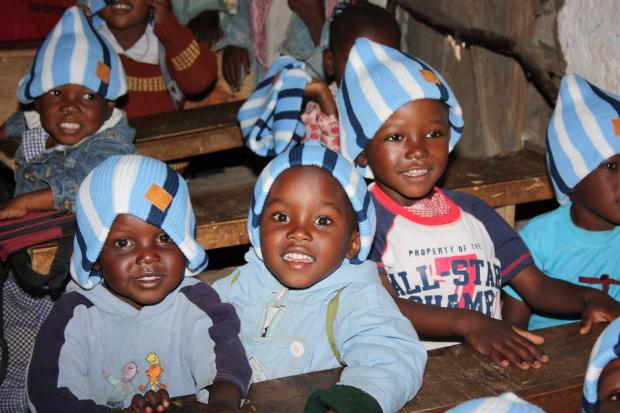 Youngsters at the Kenyan school Wanderers' Community Trust is helping. Pic by Darren Willis