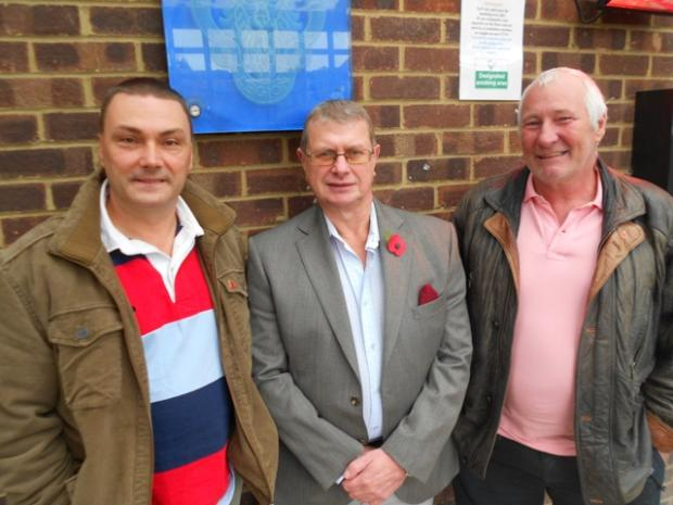 Greenhithe and Swanscombe Royal British Legion members Steve Brooks, Terry Tucker and Graeme Mentor-Morris.