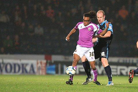 Gary Doherty gets to grips with Edgar Davids last night