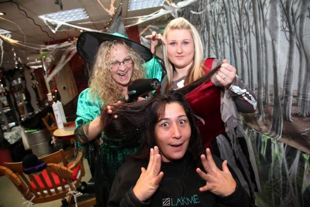 Snipityboos in Mitcham transforms salon into spooky halloween hollow
