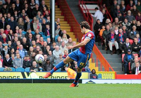 Captain by a Mile: Jedinak buries his first goal of the season in the 2-2 draw against Millwall, little did he know it would be Freedman's last game in charge