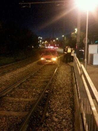 Driver ends up on tram tracks near Sandilands after taking a wrong turn