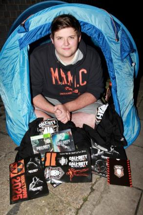 Sutton gamer is first to get Call of Duty: Black Ops II after camping for days