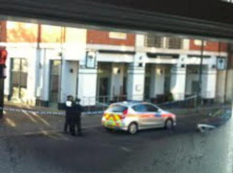 This Is Local London: Cordon: The Royal Oak pub was closed