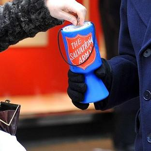 A survey found public donations to charity fell by 20 per cent in real terms last year