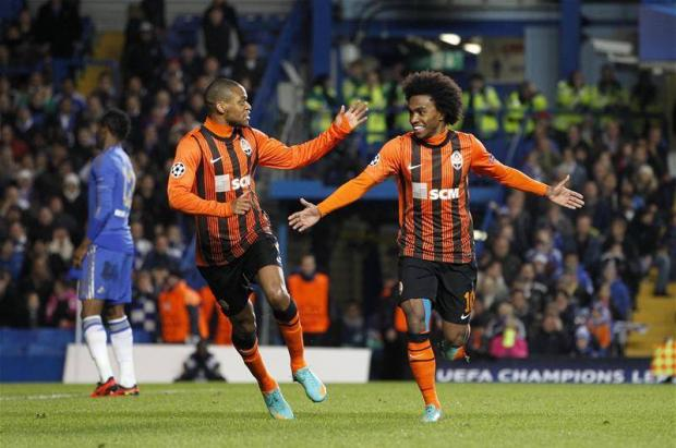 Tottenham targets: Luiz Adriano, left, and Willian, right (Picture: Action Images)