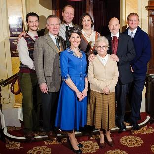 The celebrity cast of a one-off performance of The Mousetrap at St Martin's Theatre in central London