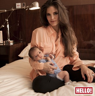 Carly Cole with new son Harrison
