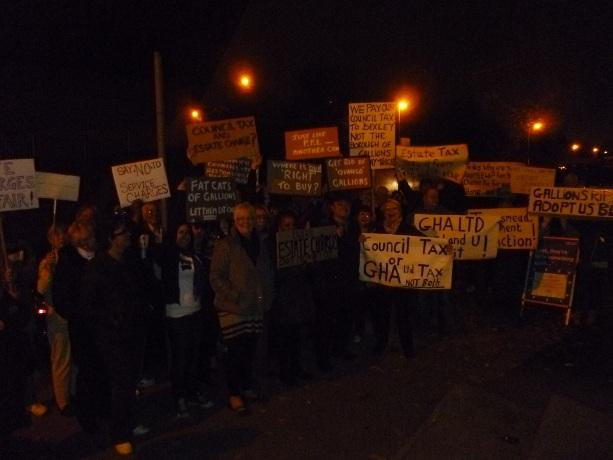 """Thamesmead residents protest """"unjust"""" maintenance charges outside a Bexley Council public cabinet meeting on Tuesday (November 13)."""