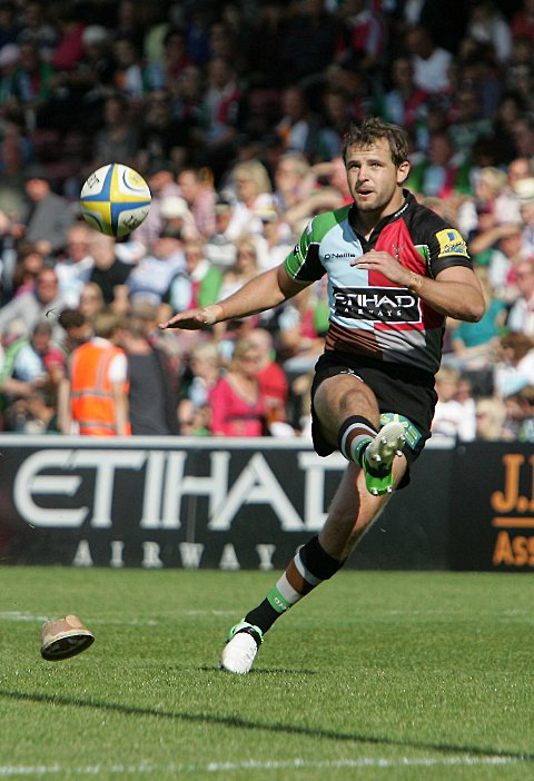 Return: Quins fly half Nick Evans returned to Premiership action last week, but could not insire his side to a win at Bath
