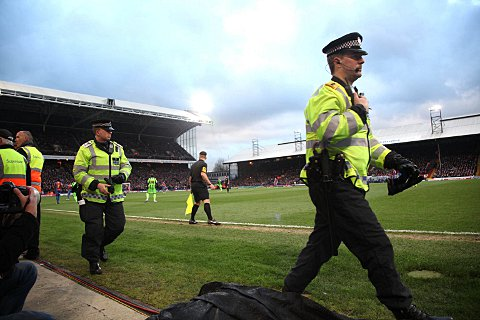Crystal Palace v Charlton derby trouble leads to 10 arrests