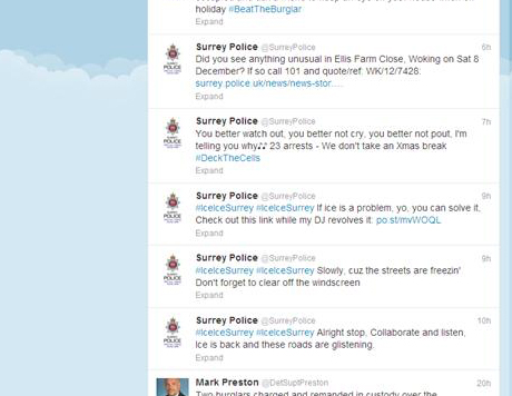 Police get into the Christmas spirit on Twitter