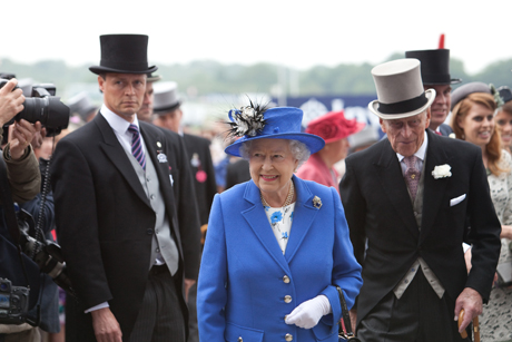 The Queen at the Epsom Derby 2012