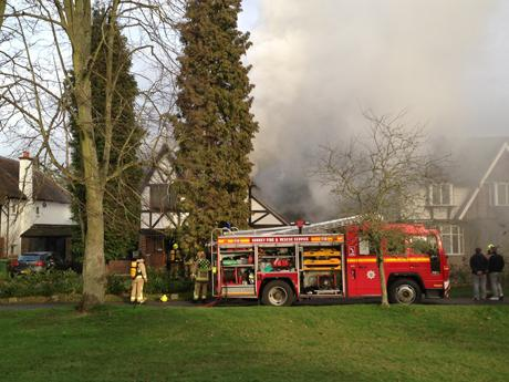 Firefighters battling major blaze in East Ewell