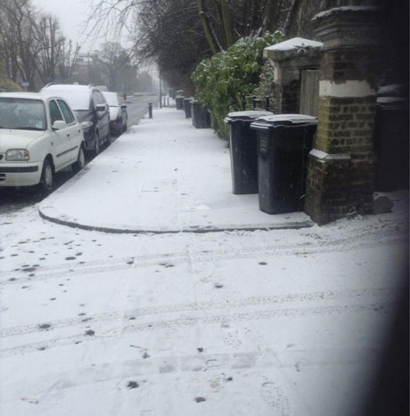 Snow in Brockley