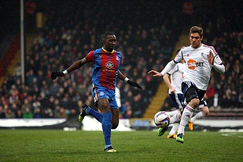 Yannick Bolasie goes on the attack in today's draw with Bolton