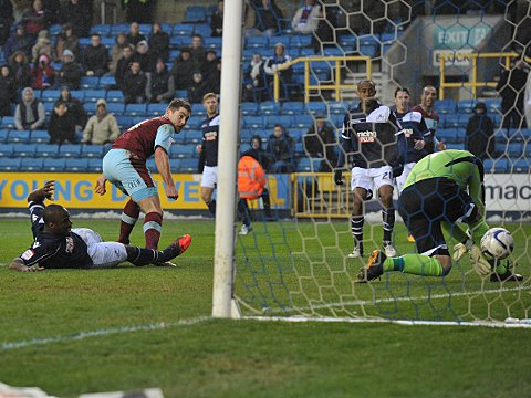 Clarets inflict first defeat of new year on Millwall