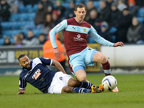Liam Trotter makes a tackle