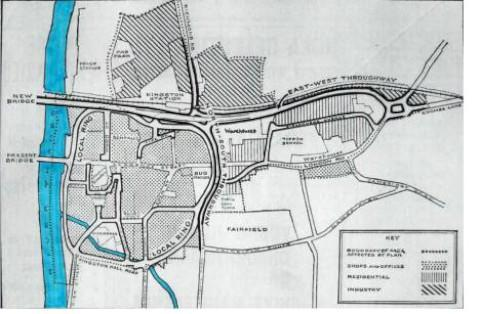 "What might have been: a so-called ""local ring road"" severing Kingston town centre from the river"