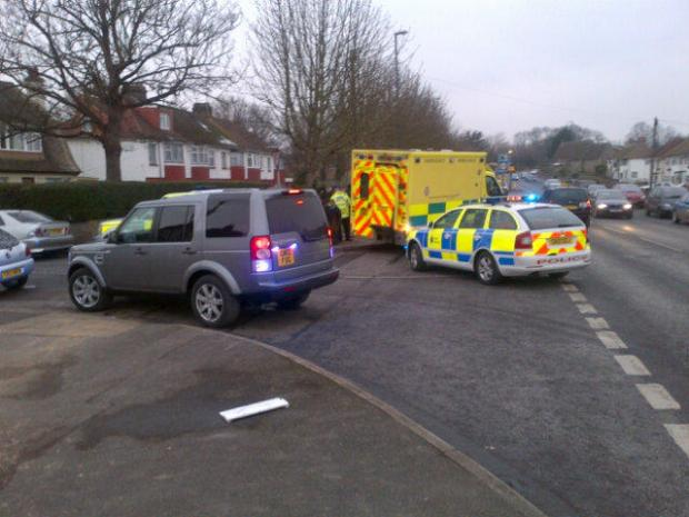 The scene of the collision in Rochester Road, Gravesend