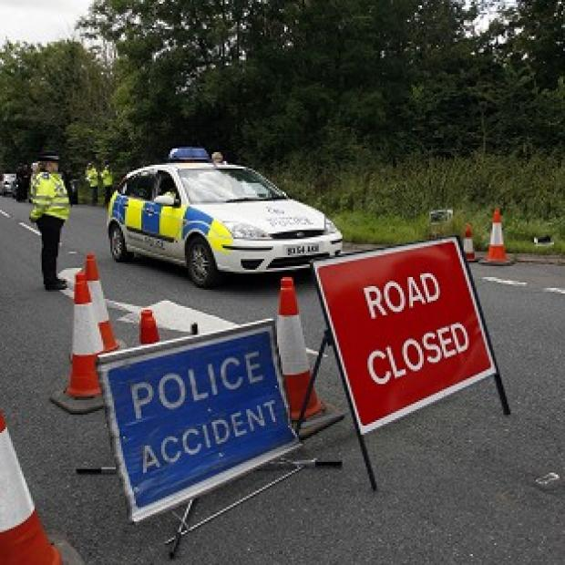 A man has died after two cars carrying members of the same family crashed into a river in Derbyshire