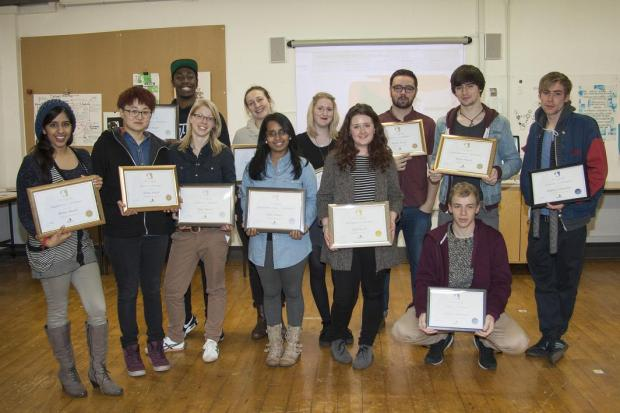 Graphic design students at UCA Epsom won a string of awards at an annual design contest organised by PaperCo