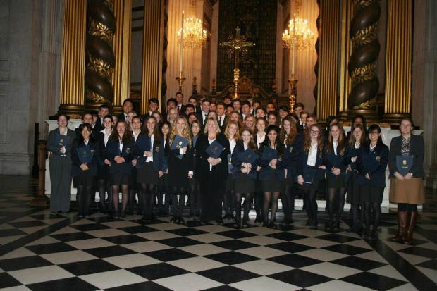 Epsom College's chapel choir performed at St Paul's Cathedral