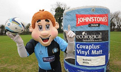 Mascot Bodger with the giant paint pot