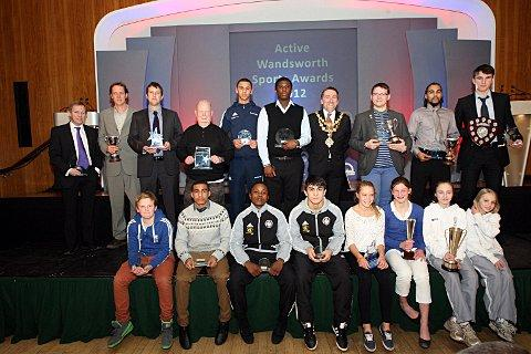 Congratulations: All the winners from the Active Wandsworth Sports Awards 2012      SP73757