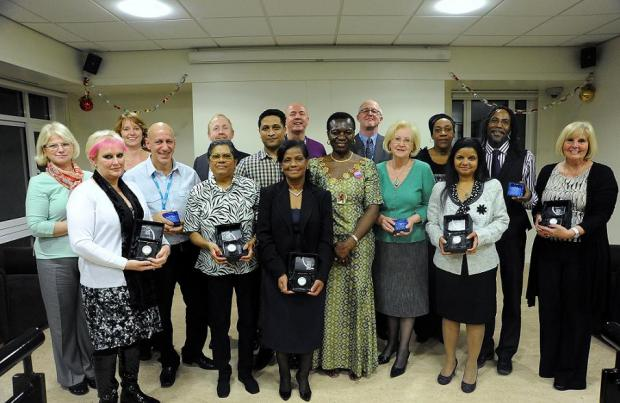 Councillor Kate Anolue with award winners