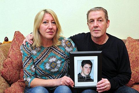 Samuel Guidera's parents Sarah and Chris are appealing for help to catch their son's killer