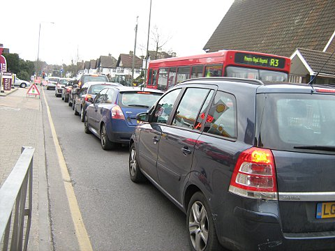 Petts Wood roadworks cause misery for drivers