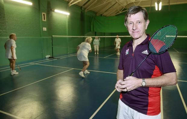 Lawrie Curtis runs the weekly badminton club in Drill Hall in Enfield Chase