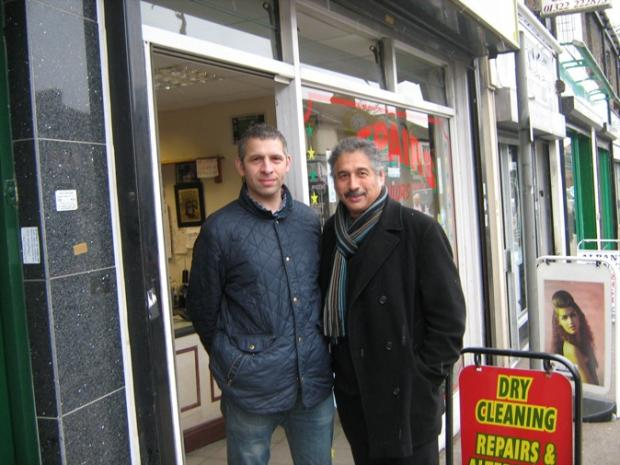 This Is Local London: Osmon and Ray Hussein outside their dry cleaning shop in Lowfield Street