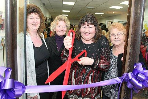 This Is Local London: Store mamager Sue Lee with Maggie Leonard, Cheryl Fergison and Olive Botten.