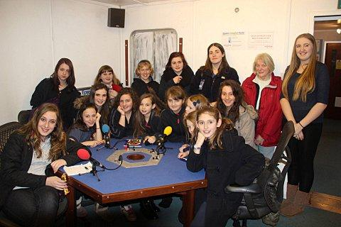 The 1st Tattenhams Guides took to the airwaves at Epsom Hospital Radio