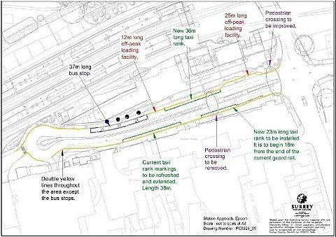 Surrey County Council's plans for the future of Station Approach, Epsom