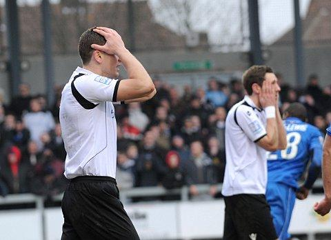 The frustration shows as Darts miss another chance against Grimsby on Saturday