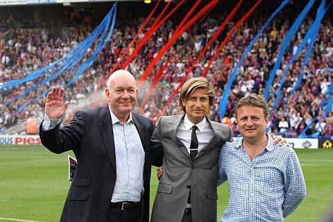 Ready for the top flight: Palace owners Martin Long, Steve Parish and Steve Browett - who says Palace may not get a better chance at promotion for some time