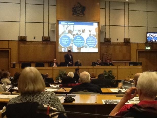Stephen Greenhalgh presented the Met's policing plan at Merton Civic Centre