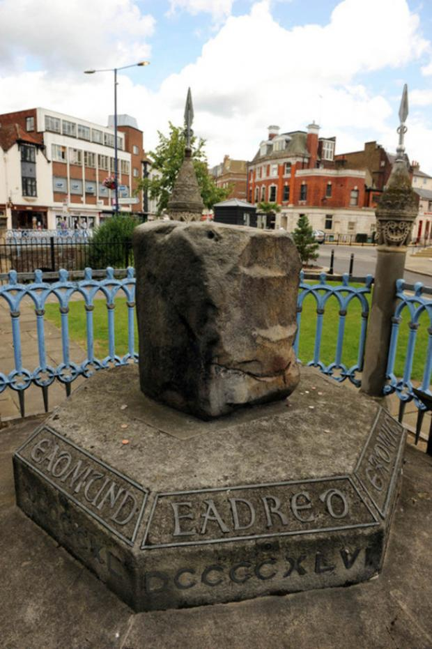 The group have pitched a tent next to the town's historic coronation stone