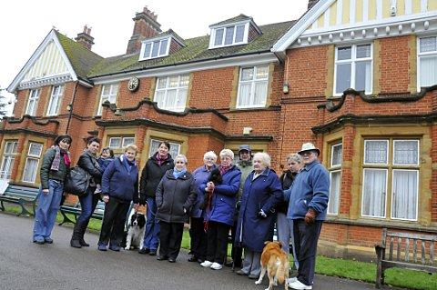 Members of the Ewell Court House Residents' Association are against Epsom Council's plans to rent out the top room of Ewell Court House